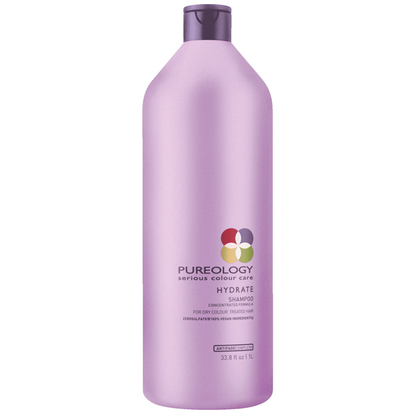 Pureology Hydrate Shampoo Serious Colour Care Sulfate Free Concentrated Moisturizing